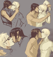 Dudes Kissing by Helix-Wing