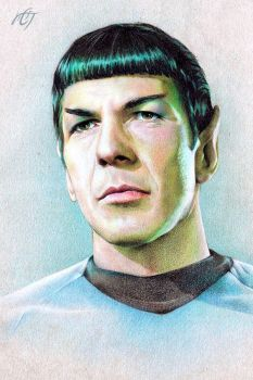 Mr. Spock (Leonard Nimoy) by Inar-of-Shilmista