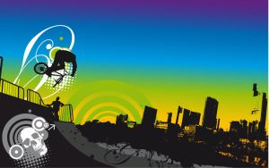 urban-bmx-Wallpaper by loosy