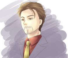 Tony Stark by waterlantern