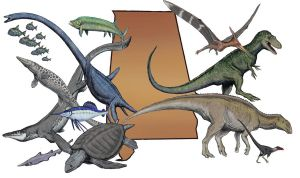 Alabama Cretaceous Fauna by Ashere