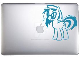 Vinyl Scratch aka DJ Pon-3 Decal by TeslaLollipop