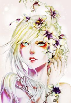 Orchid Girl by AniArie