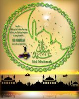 EID MUBARAK To All With My Best Wishes... by rajjib
