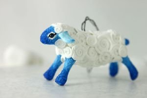 Cloud Sheep Christmas ornament by hontor
