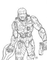 Master Chief- pencils by MikeDimayuga