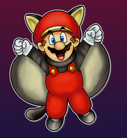 Flying Squirrel Mario by MushroomWorldDrawer