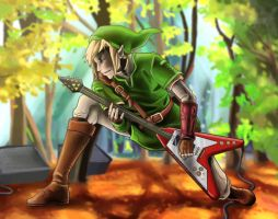 Link Rockin Out by TheK40