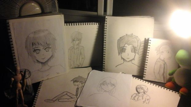 Evolution of my manga style draw (2 years) by Necrofeu