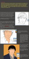 Tutorial I:Retrato Tom Welling by ShadCarlos