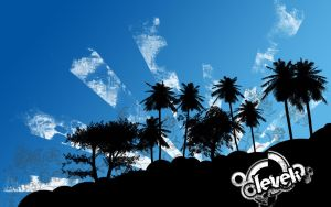wallpaper tropical Blue by Levek