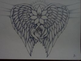 My chest piece pre color by Samaelt666