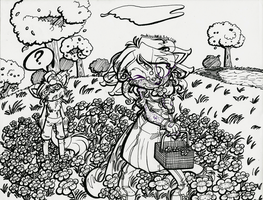 WIP: In the Flower Field.. by Lavenkitty