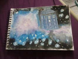 tardis in space by allonsylauren