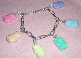 Sour Gummy Bear Charm Bracelet by TashaAkaTachi