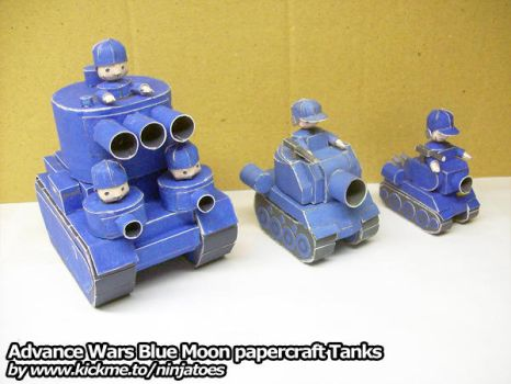 Papercraft Blue Moon Tank family by ninjatoespapercraft