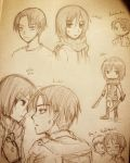 [ROUGH] Rivaille and Mikasa by pukpik99