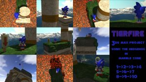 Sonic in Marble Zone 3D by tigrfire
