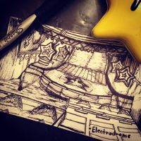 Mario Kart 8 Electrodrome pen Sketch by KimShadow