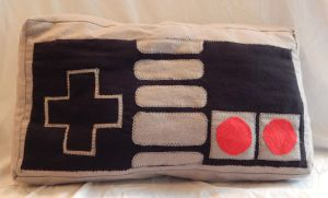 nintendo controller pillow by mylittlezombie
