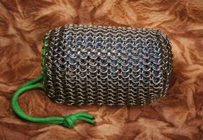 Chainmail Pouch by DracoLoricatus