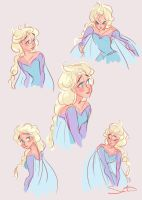 Elsa Sketches III by samanthadoodles