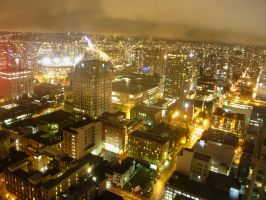Vancouver at Night 2 by raindroppe