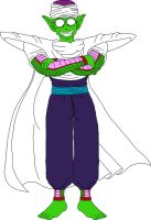 Barefoot Pure-Hearted Piccolo Jr. 3 by DragonBallFan2012