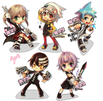 Chibi Soul Eater by sweetpealolz