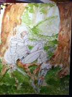 Lay the Ink and Watercolor by Yavanni