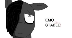 Emo Stable MLP OC by Kyuubichowderfan