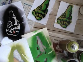 Stenciled stickers by Pluto-1