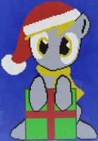 Minecraft- Christmas Chibi Derpy by Angel-Molina
