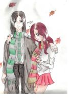 Lilly and Snape by DarkMoonSylph