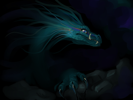 Cave dragon by griffsnuff