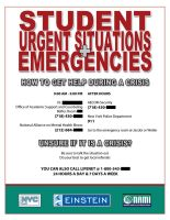 Emergency Flyer by OnlyAppearStupid