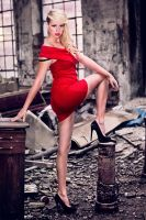 Red Dress In A Mess by PaulineDubis