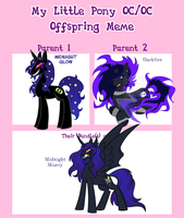 Midnight GlowXDarkfire MLP Offspring Meme by The-Clockwork-Crow