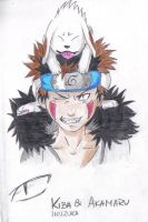 Inuzuka Kiba and Akamaru by AmyJusta