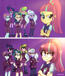 MLP EG:Friendship games| We're the shadowbolts! by AkapiiART