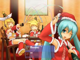 Logon Vocaloid Xmas by Aedarun