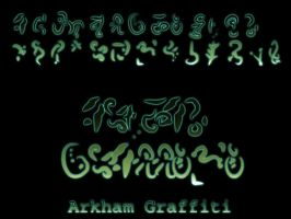 Arkham Graffiti by blackdahlia