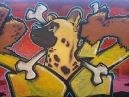 Hyena graffiti by fiszike
