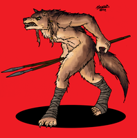 Werewolf warrior by Shabazik
