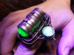 Steampunk Mad Scientist Ring with Uranium Glass by CatherinetteRings