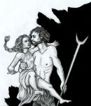 Hades abducts Persephone by sidhehannah