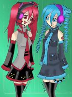 Miku n Teto changed by Dialirvi