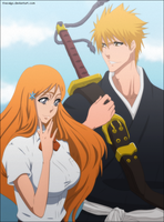 Bleach: Ichigo And Orihime by TheSaigo