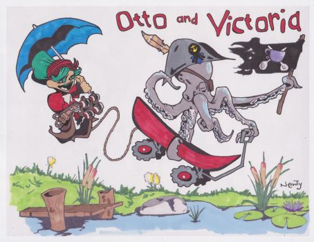 Otto and Victoria by GnarlyNewty