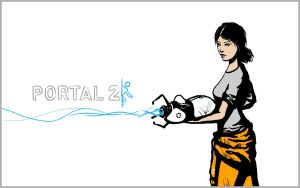 Portal 2 Wallpaper - Chell by Dan-the-builder